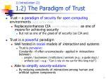 1 introduction 2 1 2 t he paradigm of trust