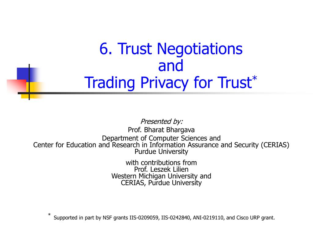 6 trust negotiations and trading privacy for trust l.