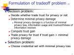 formulation of tradeoff problem 2