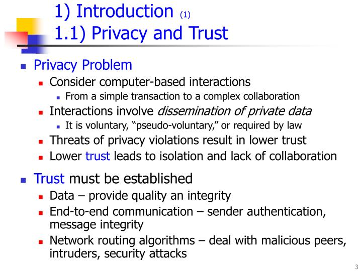 Introduction 1 1 1 privacy and trust