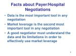 facts about payer hospital negotiations