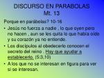 discurso en parabolas mt 13