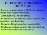 el juicio de las naciones mt 25 31 46