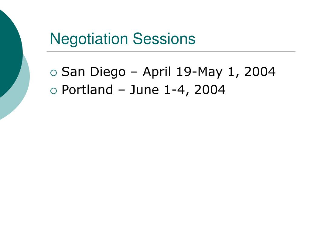 Negotiation Sessions