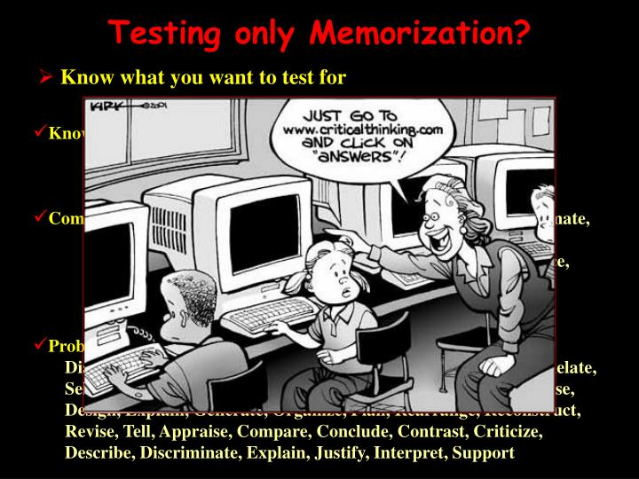 Testing only Memorization?
