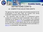 definitions cont d 4 competitive selection cont d9