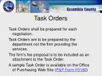 task orders