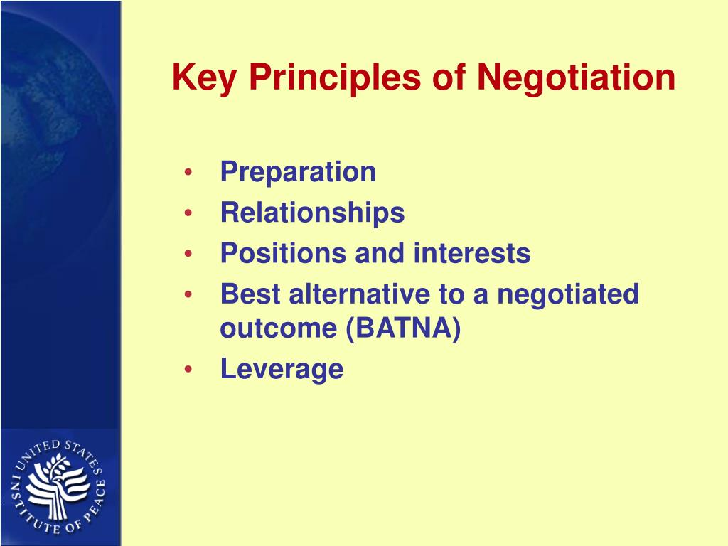 Key Principles of Negotiation