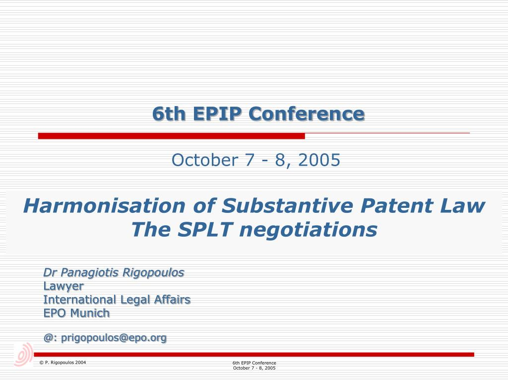 6th epip conference l.