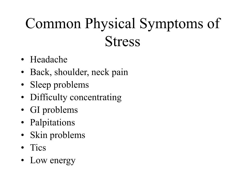 Common Physical Symptoms of Stress