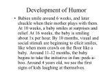 development of humor