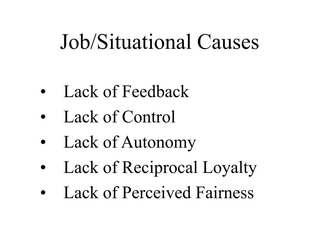 Job/Situational Causes