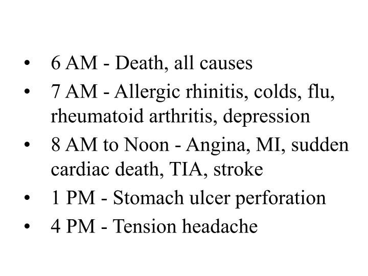 6 AM - Death, all causes