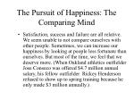 the pursuit of happiness the comparing mind