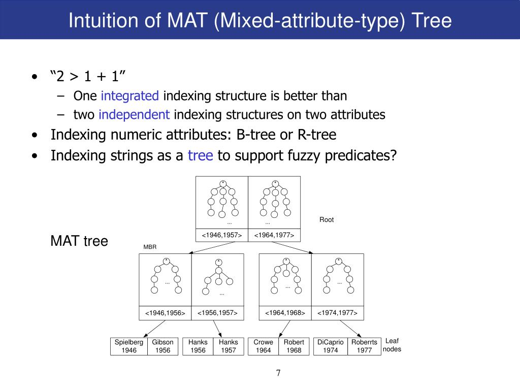 Intuition of MAT (Mixed-attribute-type) Tree