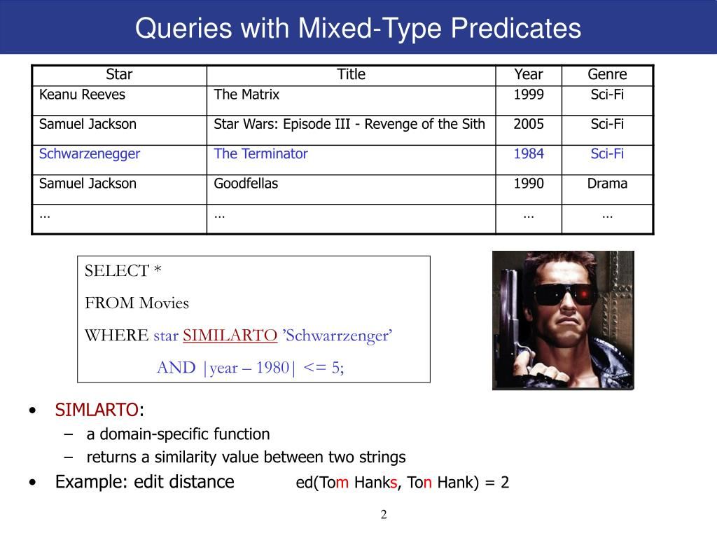 Queries with Mixed-Type Predicates
