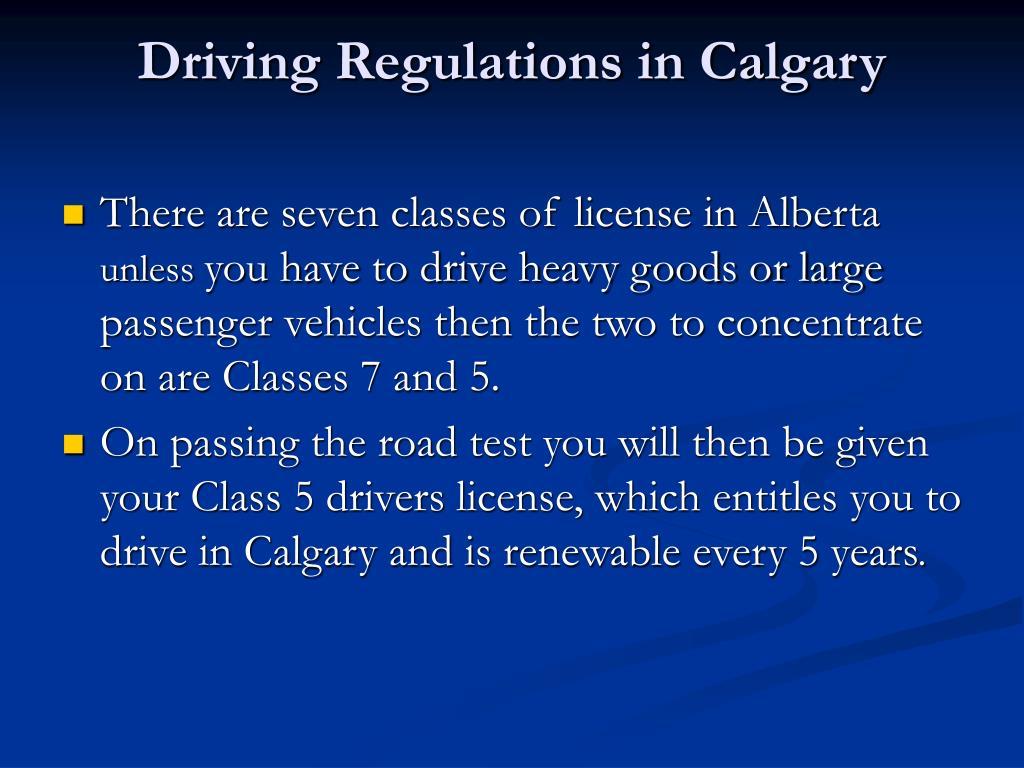Driving Regulations in Calgary