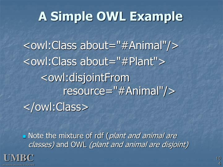 A Simple OWL Example