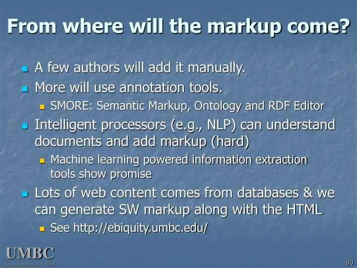 From where will the markup come?