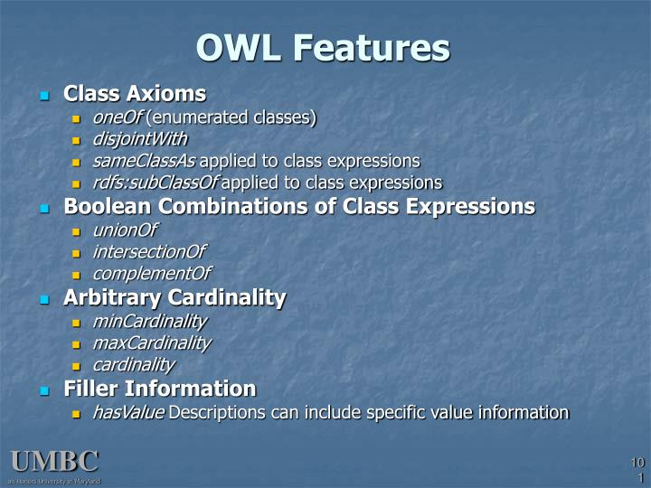 OWL Features