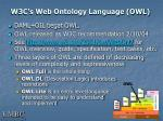 w3c s web ontology language owl