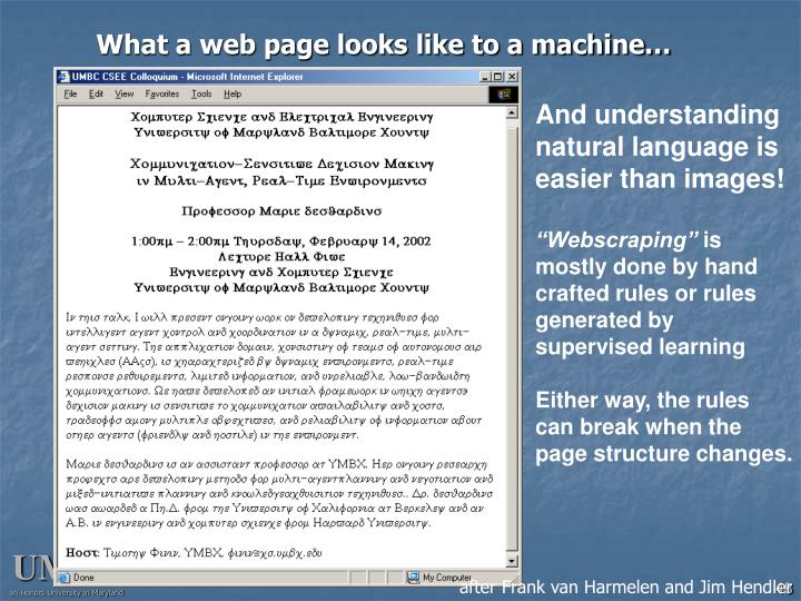 What a web page looks like to a machine…