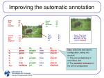 improving the automatic annotation