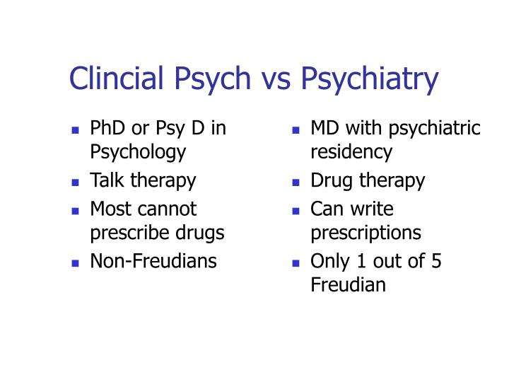 PhD or Psy D in Psychology