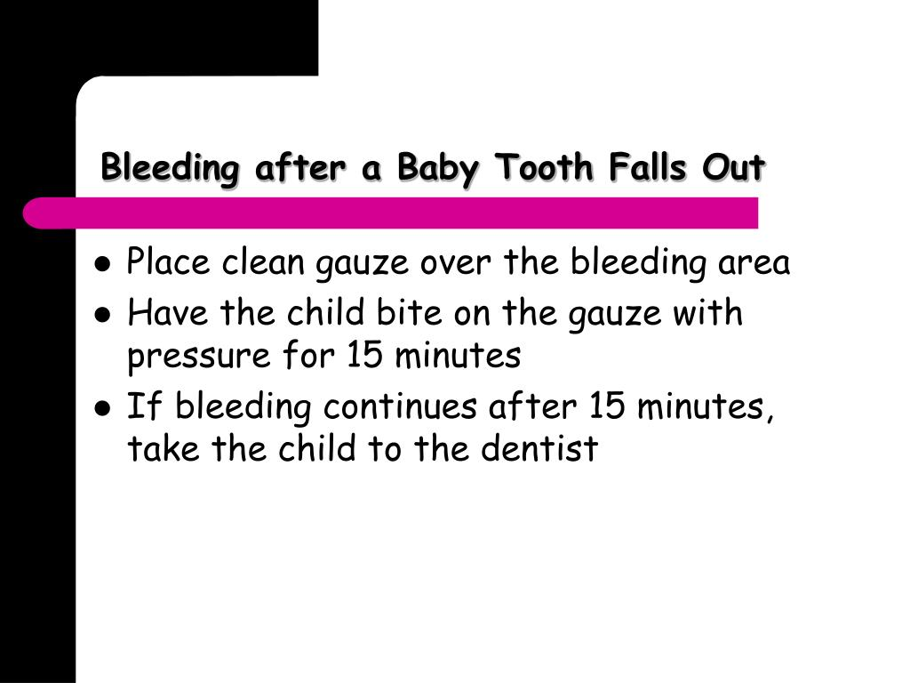 Bleeding after a Baby Tooth Falls Out