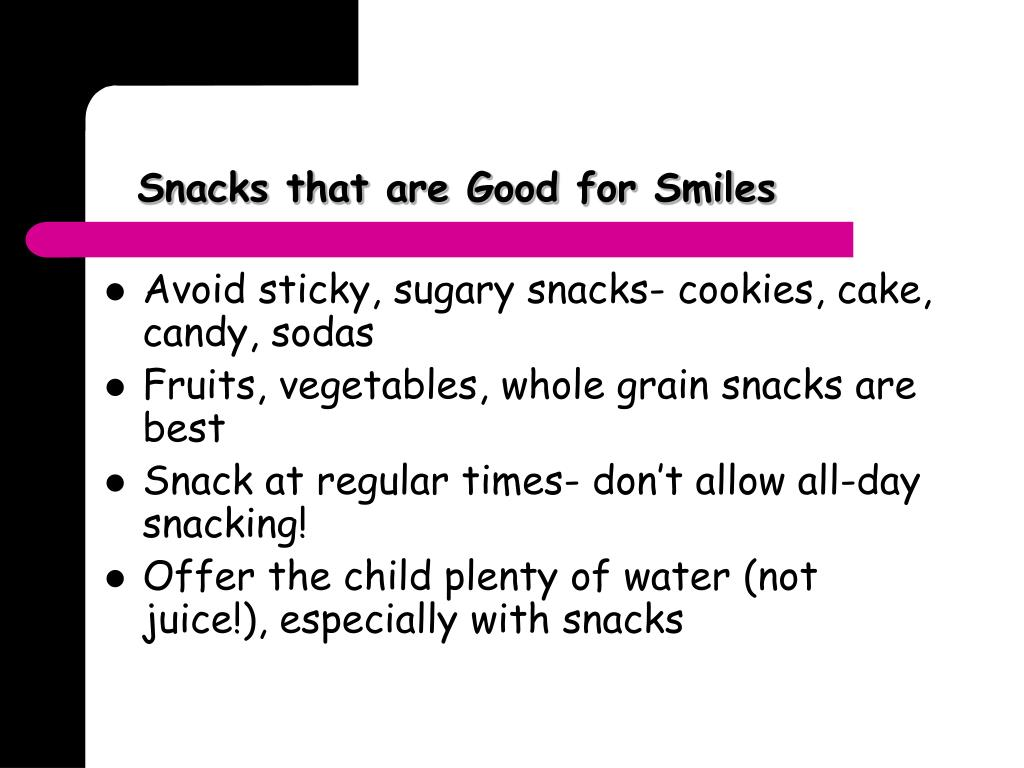 Snacks that are Good for Smiles