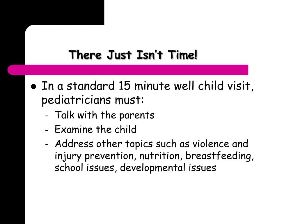 There Just Isn't Time!