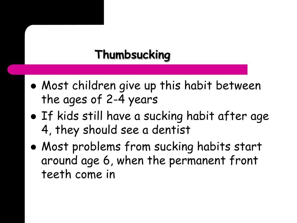 Thumbsucking
