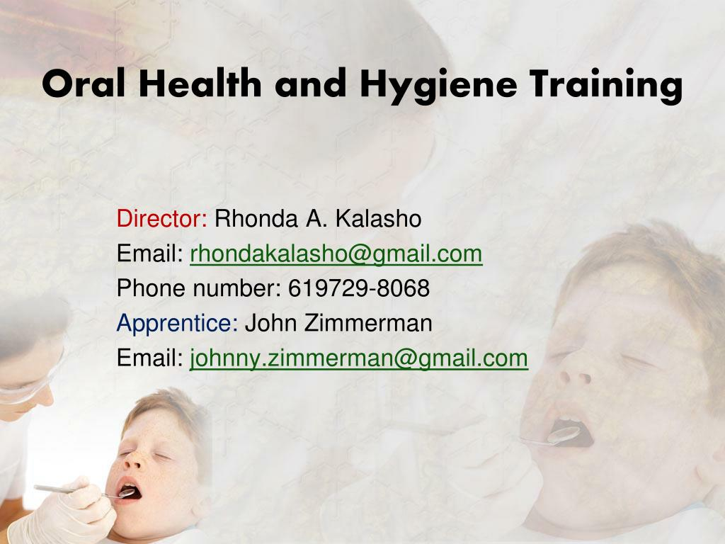 Oral Health and Hygiene Training
