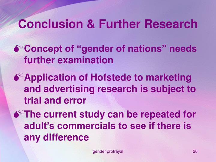 Conclusion & Further Research