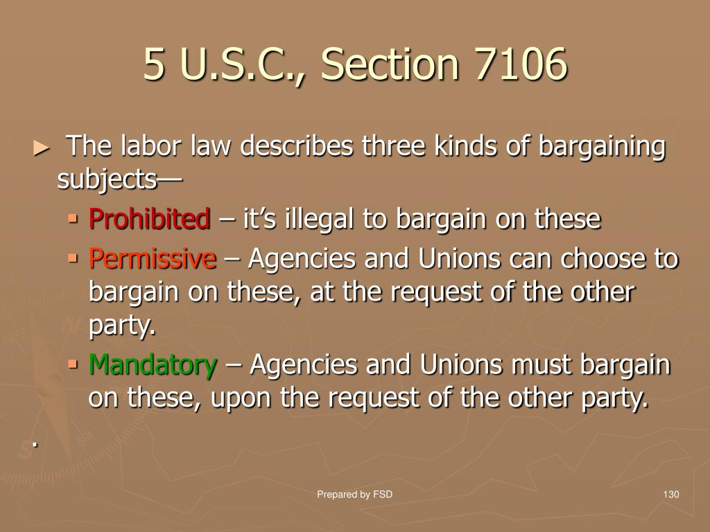 5 U.S.C., Section 7106