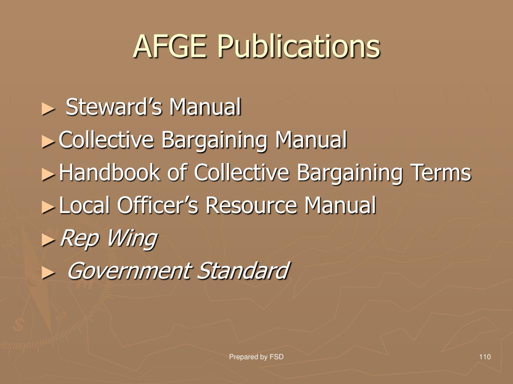 AFGE Publications