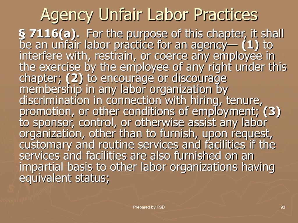 Agency Unfair Labor Practices