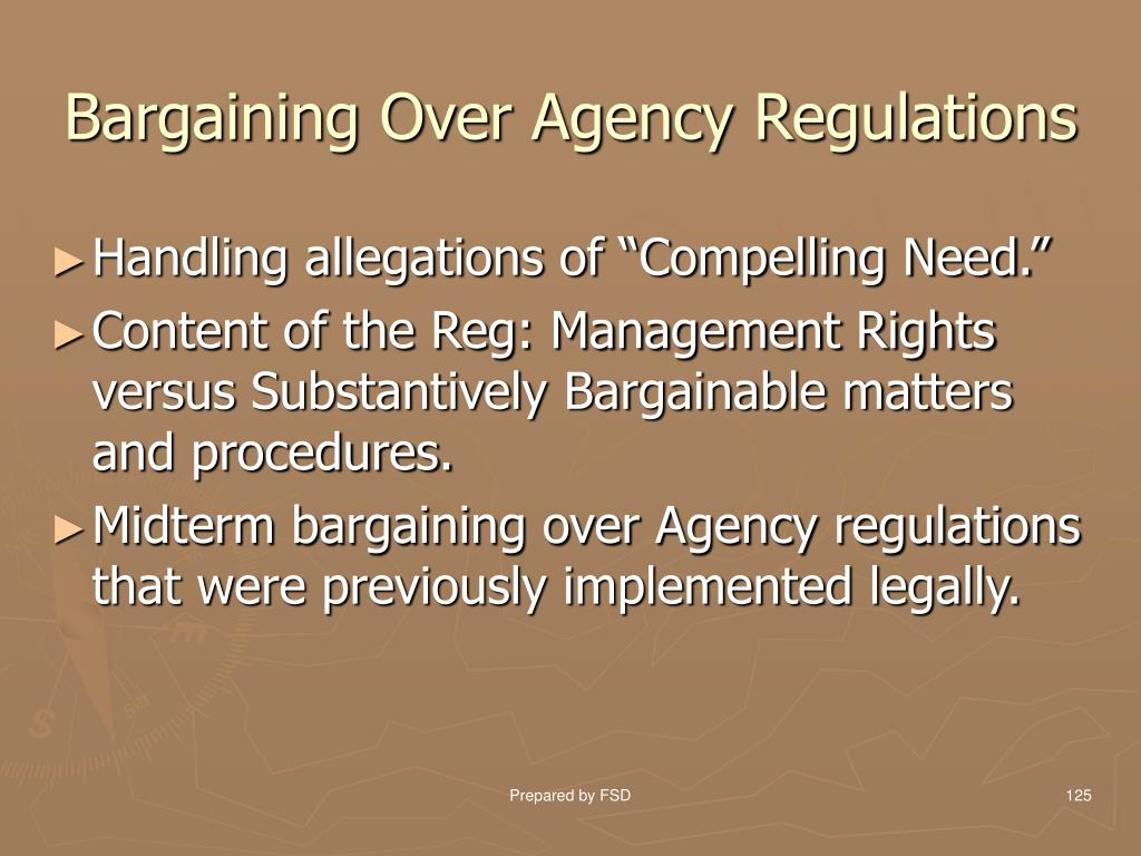 Bargaining Over Agency Regulations