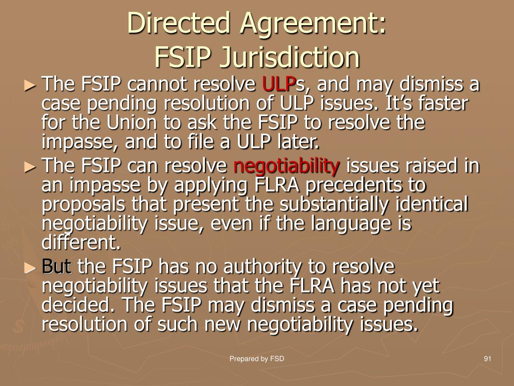 Directed Agreement: