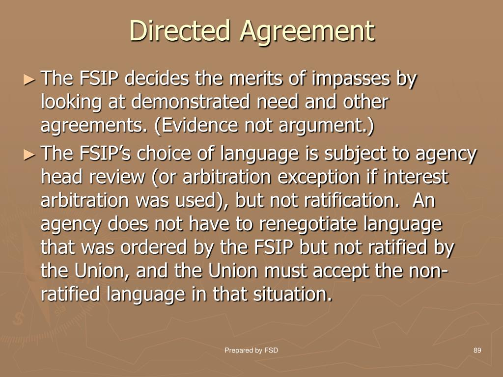 Directed Agreement