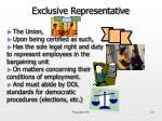 exclusive representative