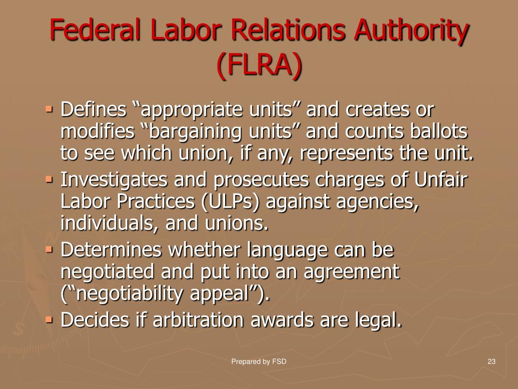 Federal Labor Relations Authority (FLRA)
