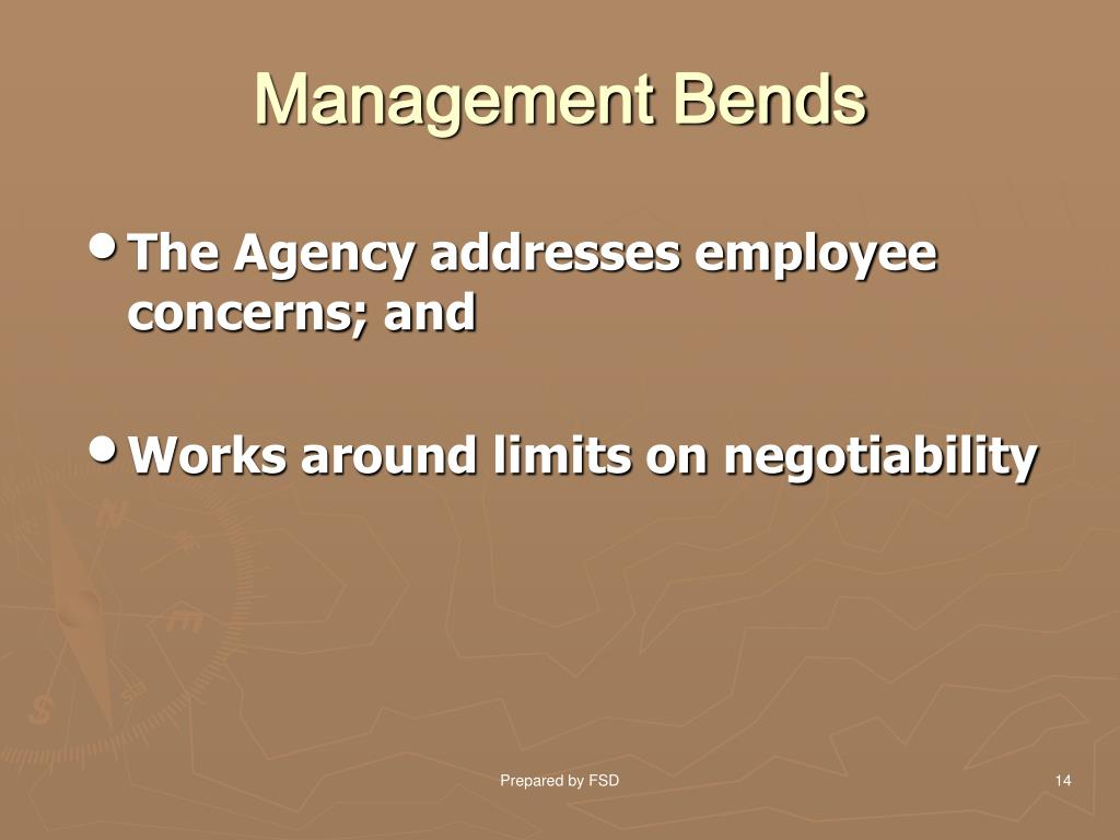 Management Bends