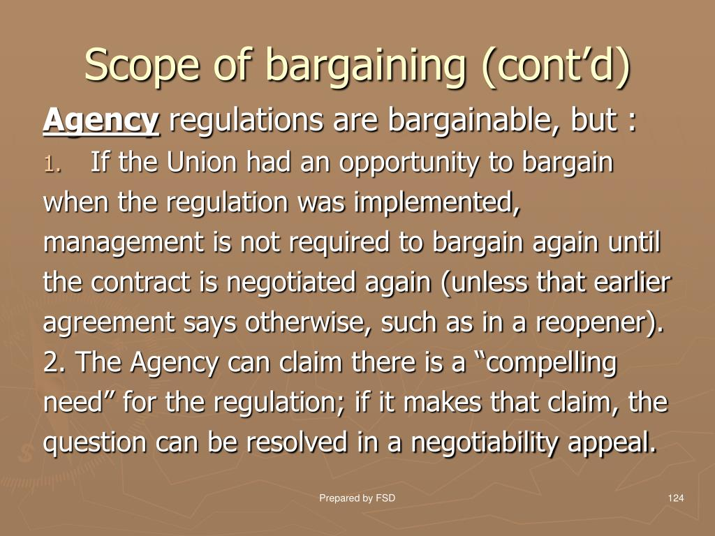 Scope of bargaining (cont'd)