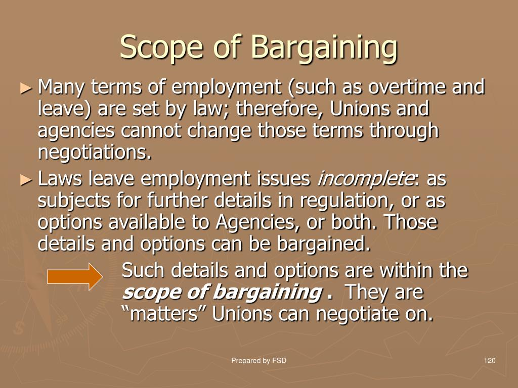 Scope of Bargaining