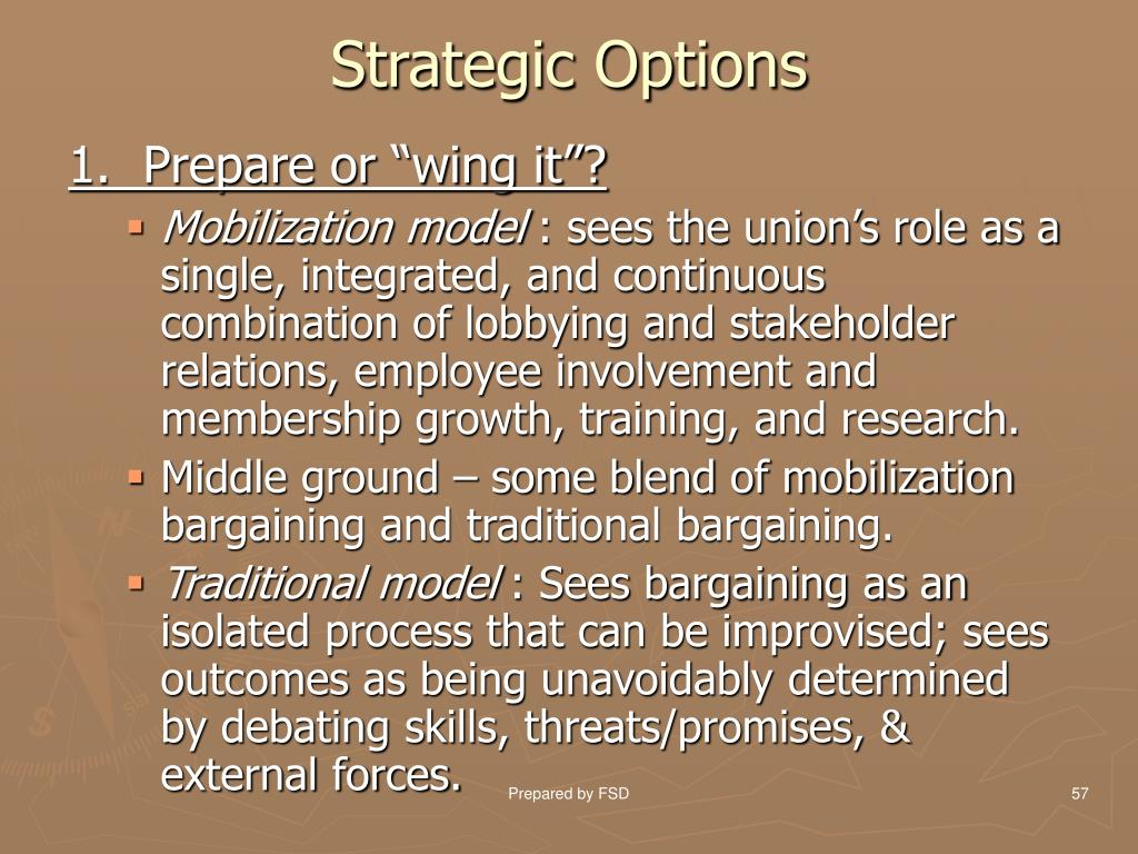 Strategic Options