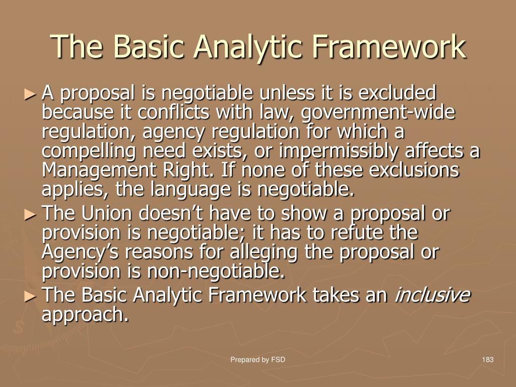 The Basic Analytic Framework