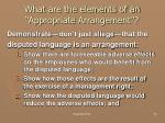 what are the elements of an appropriate arrangement