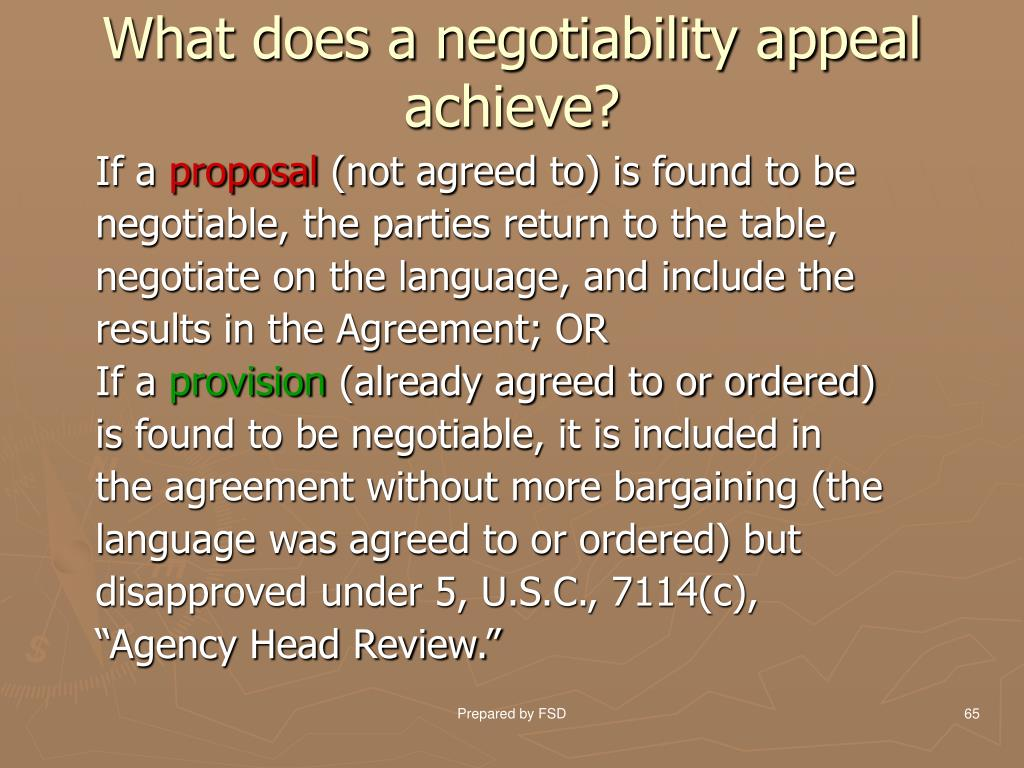 What does a negotiability appeal achieve?