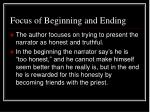focus of beginning and ending